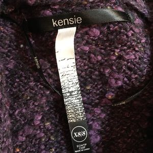 Kensie Sweaters - Kensie Purple Hi-Low Flowy Cardigan